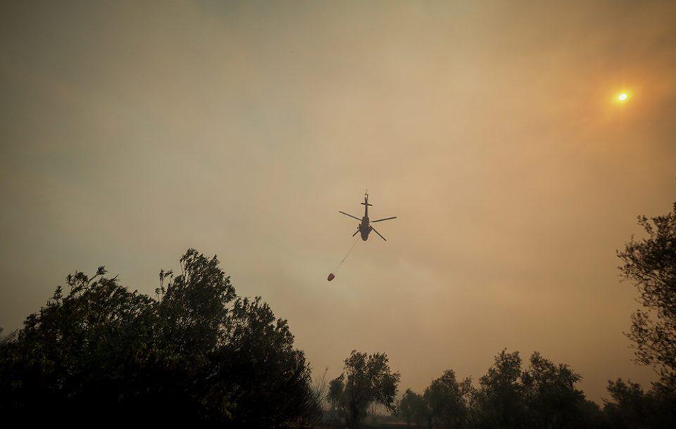 Ανεξέλεγκτη η φωτιά στην Εύβοια: Στη Στροφυλιά φθάνει η πυρκαγιά