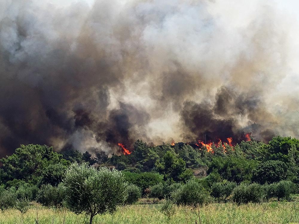 Φωτιά στην Ρόδο: Σε κατάσταση έκτακτης ανάγκης οι Δημοτικές ενότητες Πεταλούδων και Καλλιθέας