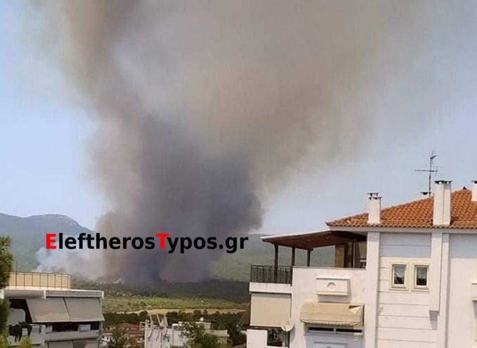 Μεγάλη φωτιά στη Βαρυμπόμπη: Ενεργοποιήθηκε το 112