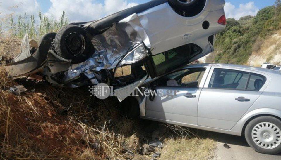 Χανιά: Σοβαρό τροχαίο με πέντε τραυματίες - Συγκλονιστικές εικόνες