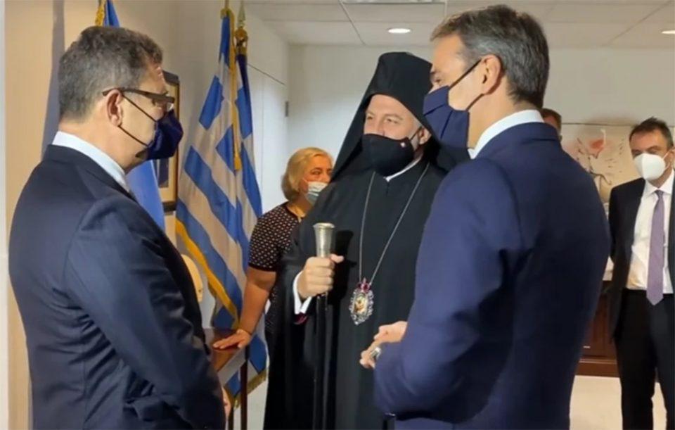 Ολοκληρώθηκε η συνάντηση Μητσοτάκη-Ελπιδοφόρου στον ΟΗΕ