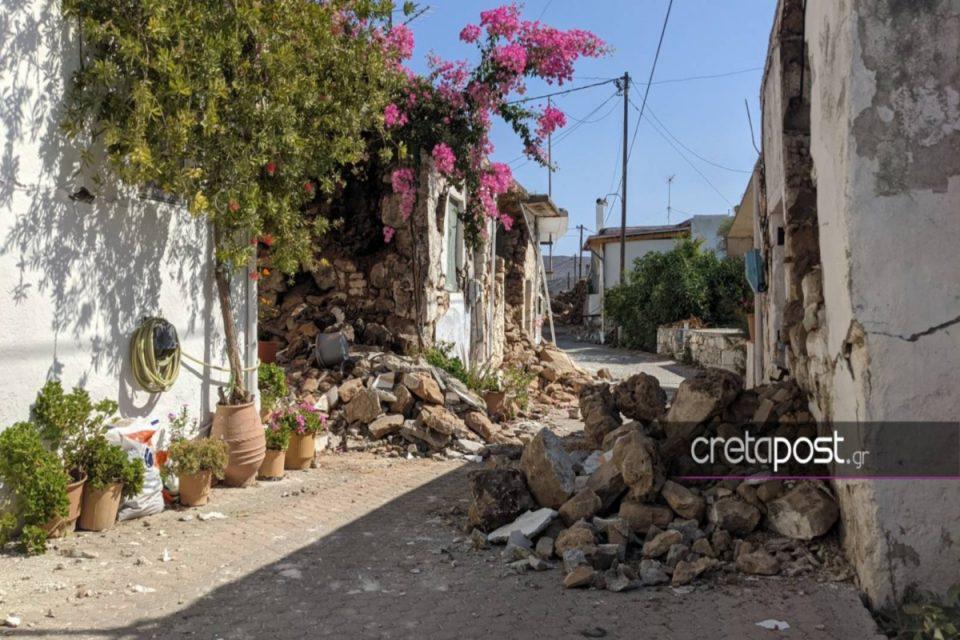 Σεισμός στο Ηράκλειο: Σοκάρουν οι νέες εικόνες καταστροφής – «Δεν έμεινε τίποτα από τις περιουσίες μας»