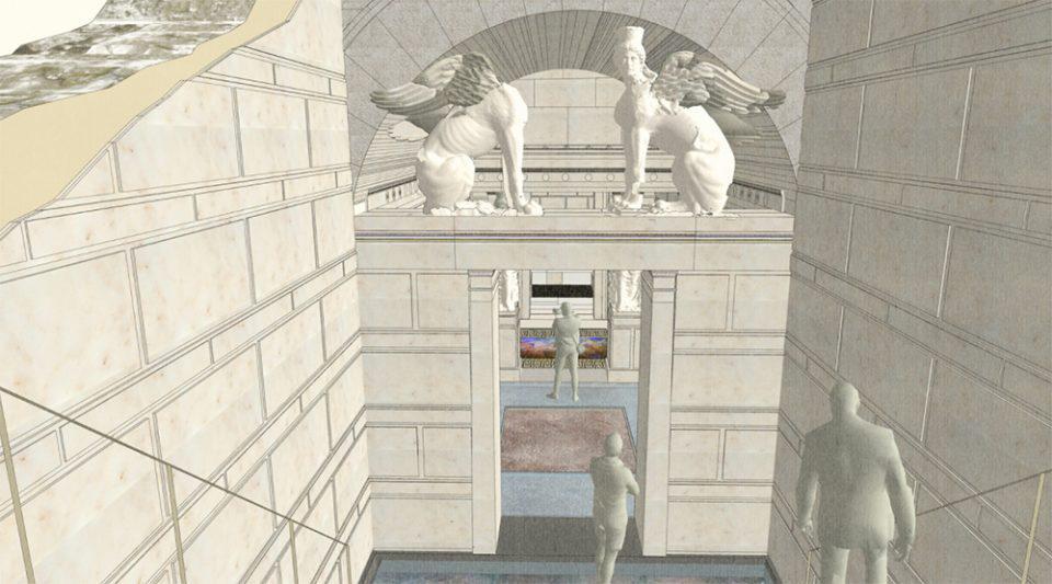 Αμφίπολη: Έτσι θα είναι ο Τύμβος Καστά - Εικόνες από την παρουσίαση