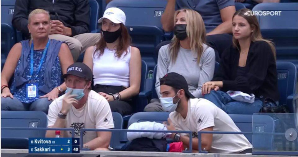 US Open: Η Μαρέβα Μητσοτάκη στον αγώνα της Μαρίας Σάκκαρη!