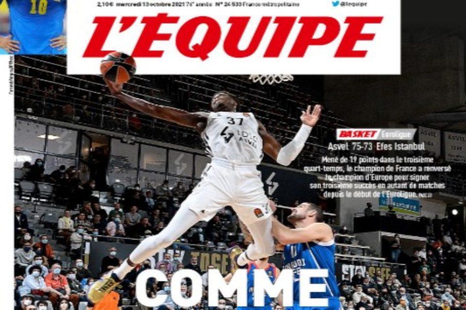 Κώστας Αντετοκούνμπο: Πρωτοσέλιδο στην L' Equipe το εντυπωσιακό του κάρφωμα