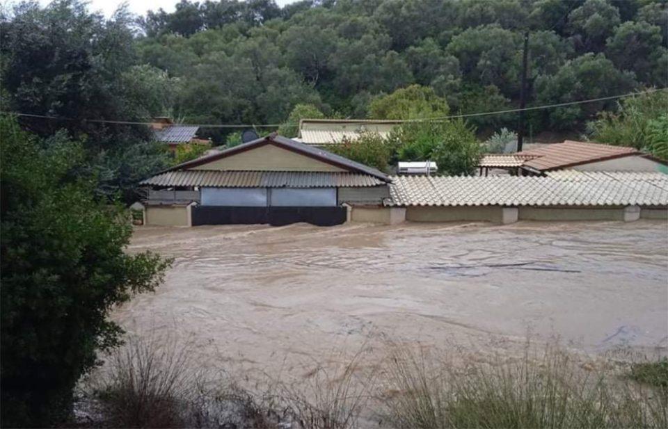 Κακοκαιρία «Μπάλλος»: Κέρκυρα: Καταστροφές και πλημμύρες